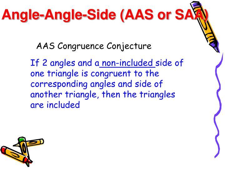 Angle-Angle-Side (AAS or SAA)