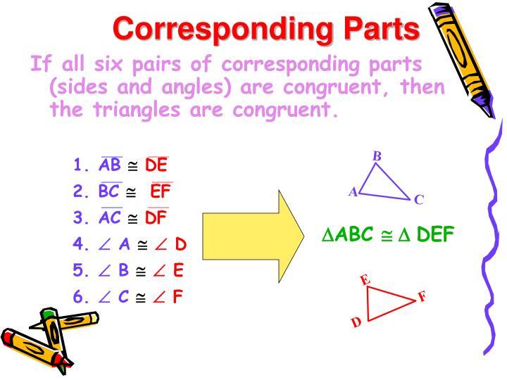 Corresponding Parts