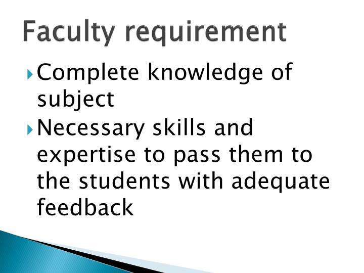 Faculty requirement