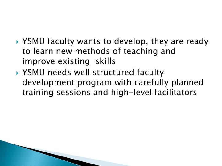 YSMU faculty wants to develop, they are ready to learn new methods of teaching and improve existing  skills