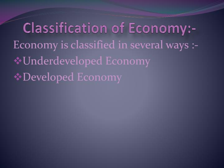 meaning of underdeveloped economy