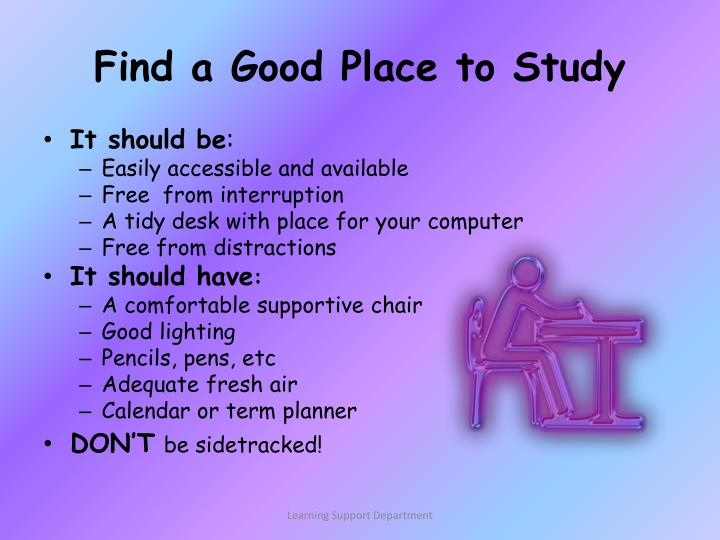 Find a Good Place to Study