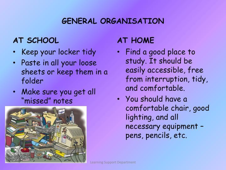 GENERAL ORGANISATION