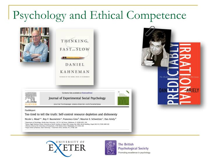 Psychology and Ethical Competence