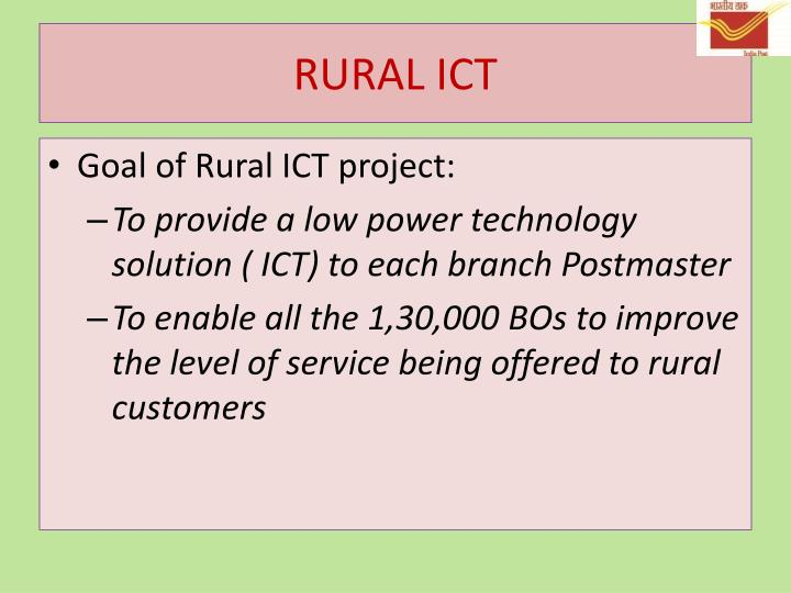 contribution of ict in rural sector Nowadays the role of information and communication technology (ict), especially internet in the education sector plays an important role, especially in the process of empowering the technology into the educational activities education sector can be the most effective sector to anticipate and.