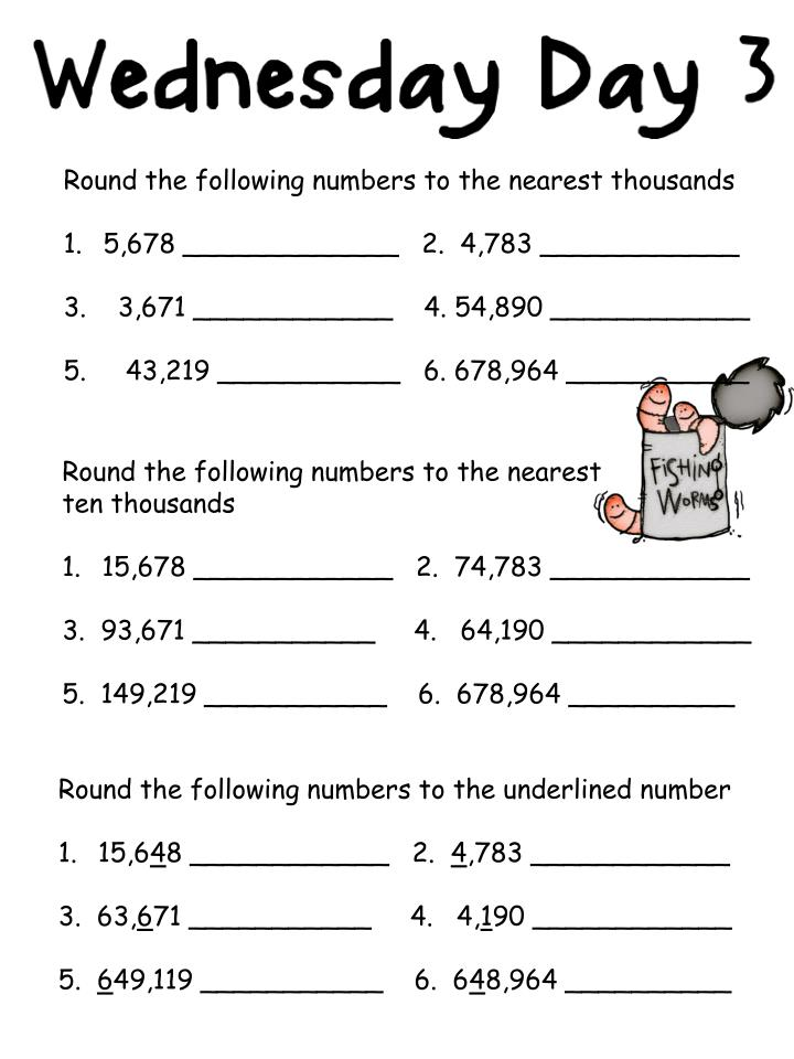 Round the following numbers to the nearest thousands