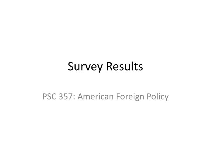survey results n.