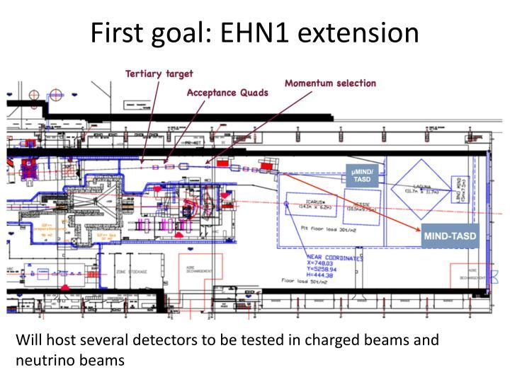 First goal: EHN1 extension
