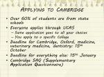 applying to cambridge