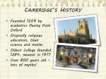 cambridge s history