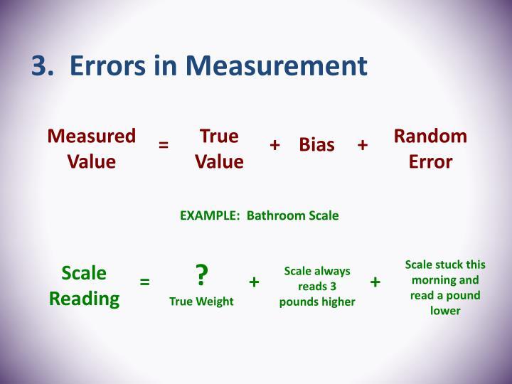 3.  Errors in Measurement
