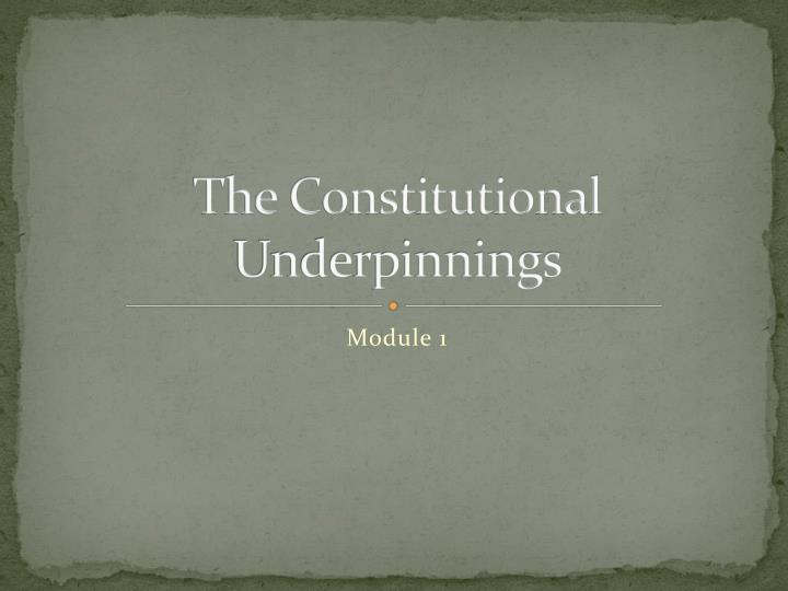 the constitutional underpinnings n.
