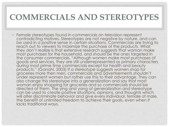 Commercials and Stereotypes