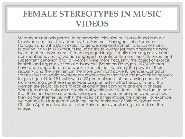 Female Stereotypes in Music Videos