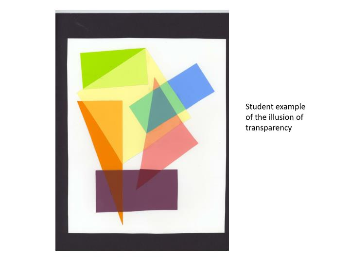 Student example of the illusion of transparency