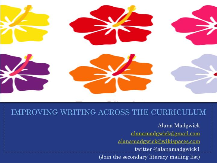 improving writing across the curriculum n.