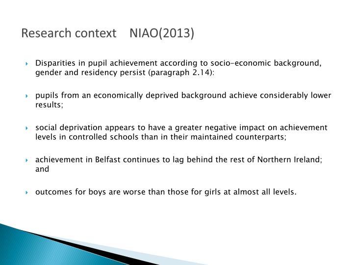 Research context niao 2013