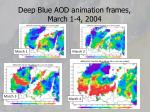 deep blue aod animation frames march 1 4 2004
