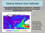 tracking saharan dust outbreaks