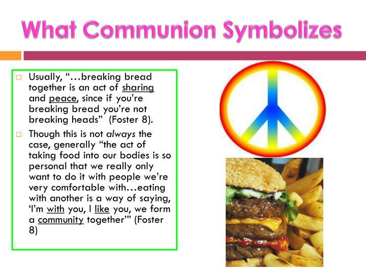 What Communion Symbolizes