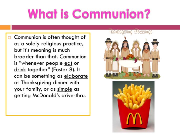 What is communion