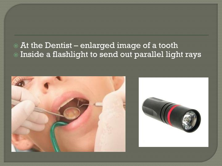 At the Dentist – enlarged image of a tooth
