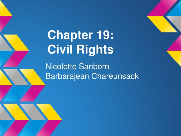 Chapter 19 civil rights