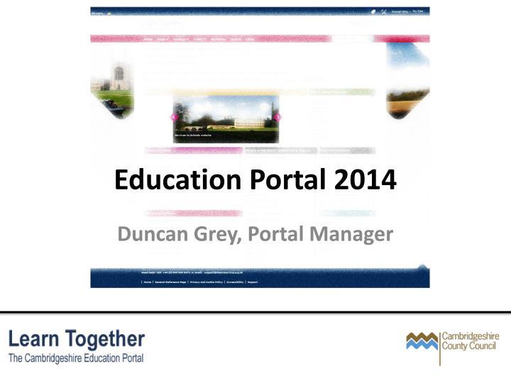 Education portal 2014