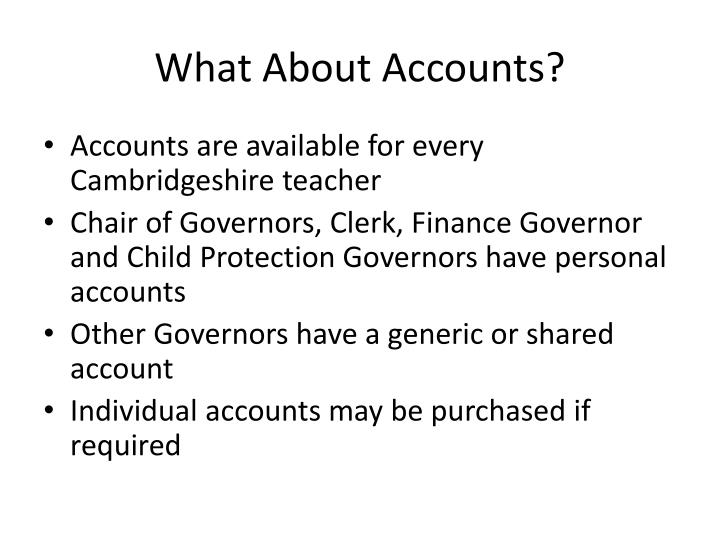 What About Accounts?