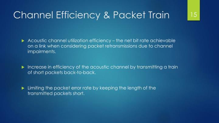 Channel Efficiency
