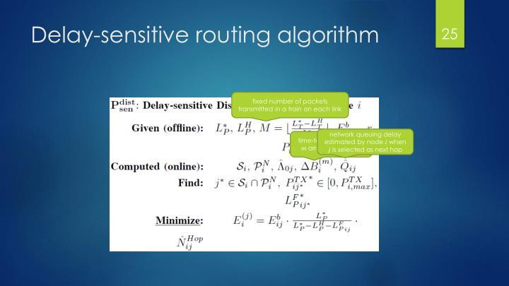 Delay-sensitive routing algorithm
