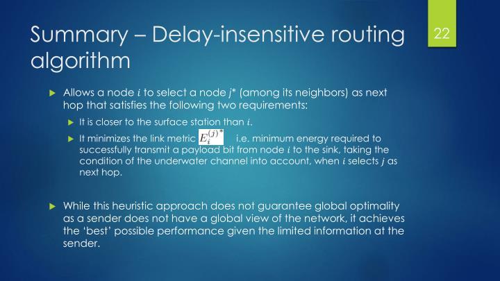 Summary – Delay-insensitive