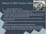 nature of 20th century wars