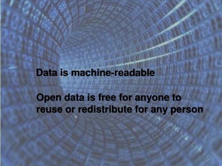 Data is machine-readable
