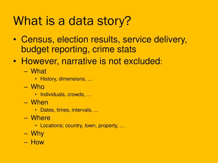 What is a data story?