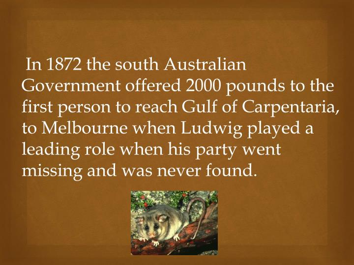 In 1872 the south Australian