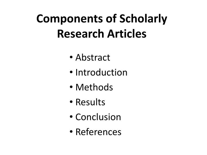 key components to become a scholar