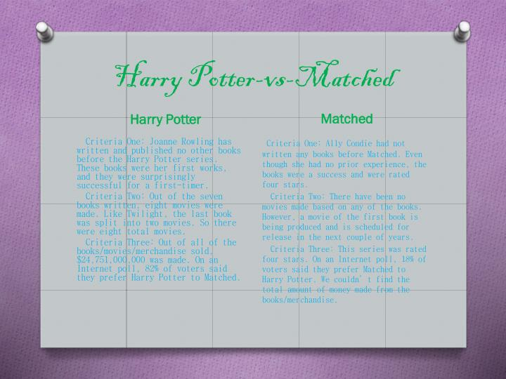 Harry Potter-vs-Matched