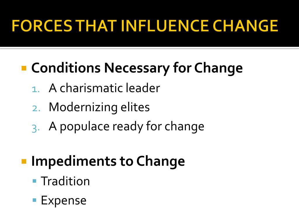 PPT - THEORIES & FACTORS OF CHANGE PowerPoint Presentation