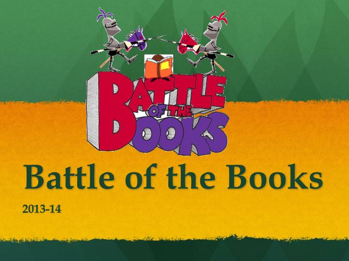 battle of the books n.
