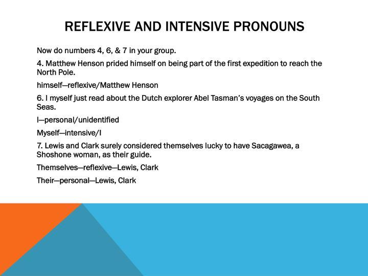 Reflexive and intensive pronouns1