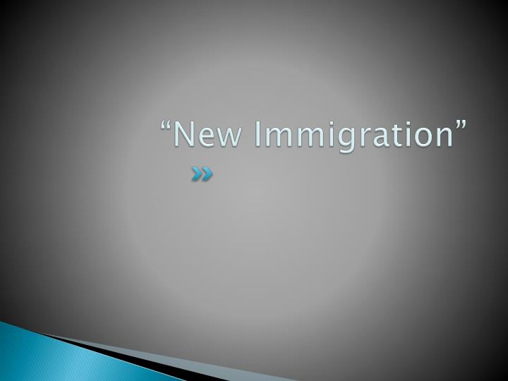 """""""New Immigration"""""""