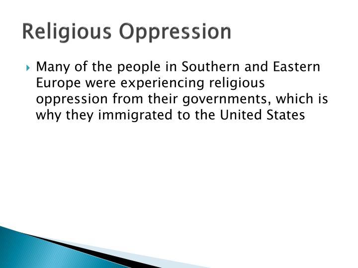 Religious Oppression