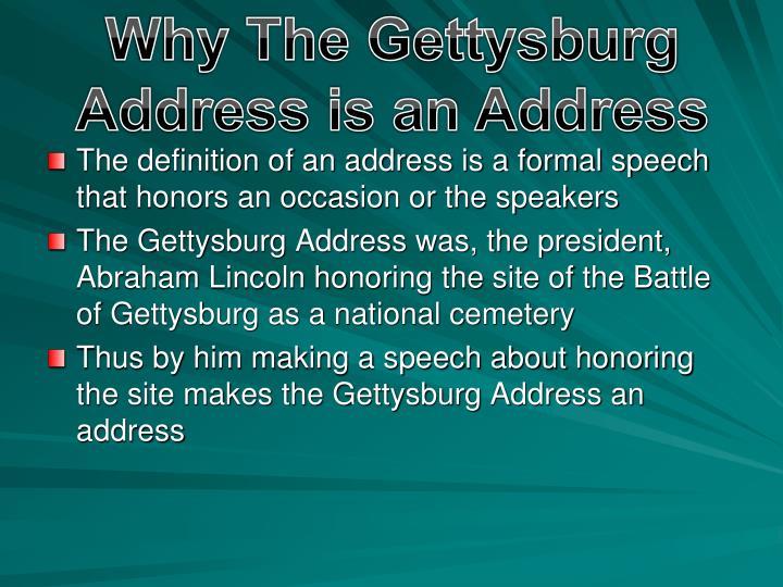 Why The Gettysburg Address