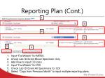 reporting plan cont
