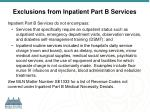 exclusions from inpatient part b services