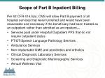 scope of part b inpatient billing