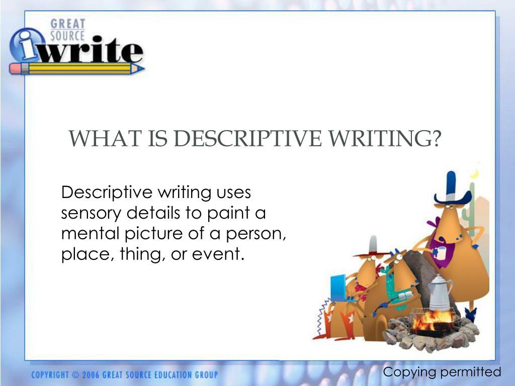 Descriptive essay writing powerpoint