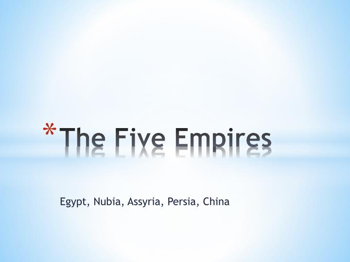 the five empires n.