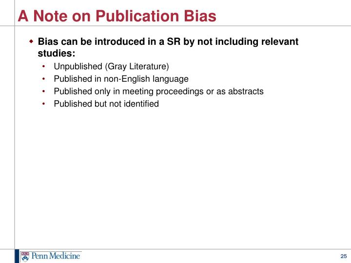 A Note on Publication Bias